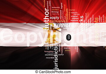 Flag of Egypt wavy copyright law - Flag of Egypt, national...
