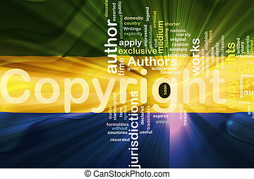 Flag of Gabon wavy copyright law - Flag of Gabon, national...