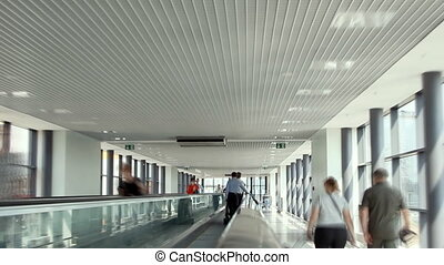 Walkalator in Sheremetyevo aiport terminal D. - Moscow,...