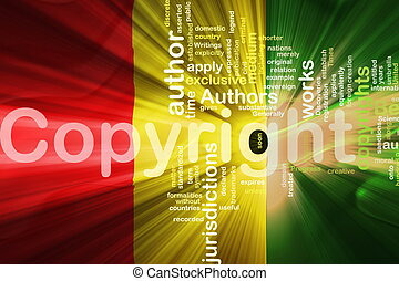 Flag of Guinea wavy copyright law - Flag of Guinea, national...