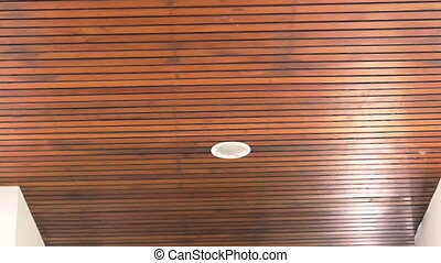 tropical resort wood plank ceiling - Video of tropical...