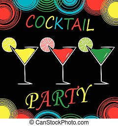 cocktail  party design menu background