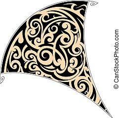Maori tribal tattoo - Maori style tattoo shaped as stingray...