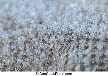 Hoar frost crystals - Selective focus of hoar frost crystals...