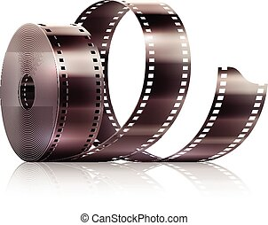 Cinematography movie video film tape isolated Eps10 vector...