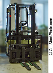 Fork-lift truck. - Fork-lift truck at the exhibition offered...