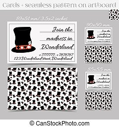 Cards Templates - Hatter Hat from Wonderland Print Ready All...