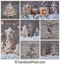 コラージュ, 装飾, クリスマス