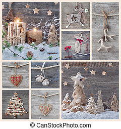 コラージュ, クリスマス, 装飾