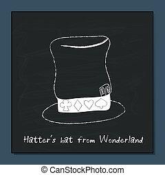 Hatter Hat from Alice Adventures in Wonderland Vector...