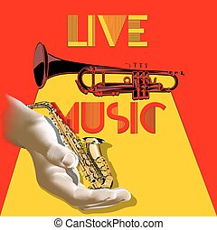 saxophone in a hand live music