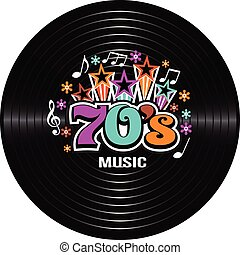70s Music discography Vector Illustration