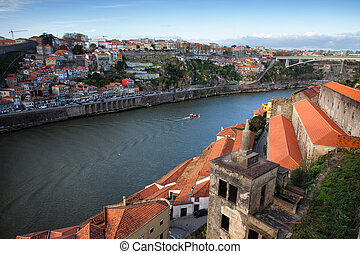 Porto and Vila Nova de Gaia Cityscape - City of Porto in...