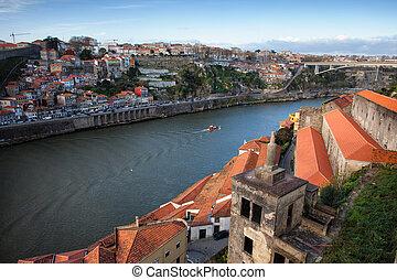 Porto and Vila Nova de Gaia Cityscape - City of Porto in...