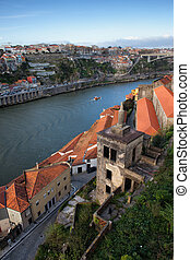 Vila Nova de Gaia and Porto in Portugal - View from Vila...