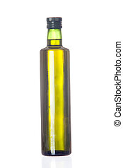 Oil bottle isolated on a over white background