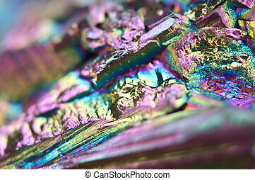 Multi-coloured Background - Abstract colorful metal...