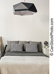 Modern style lampshade - Image of modern style black...