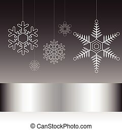 Christmas card black and white