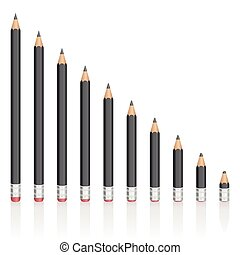 Graphite Pencils Reduction Sizes - Graphite pencils getting...