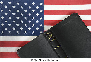 Bible and Flag - bible and American flag background