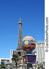 Paris and the Eiffel Tower in Las Vegas, Nevada in April...