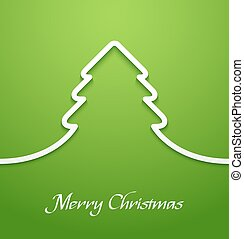 Green abstract christmas tree applique