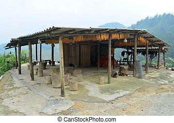 Hmongs house in Sapa, Vietnam