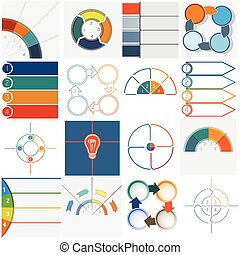 16 templates Infographics cyclic processes four positions -...