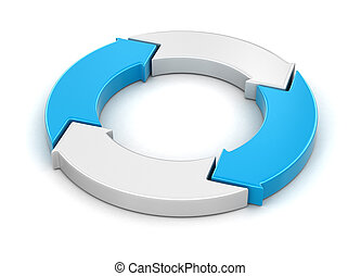 Circular Graph. Image with clipping path