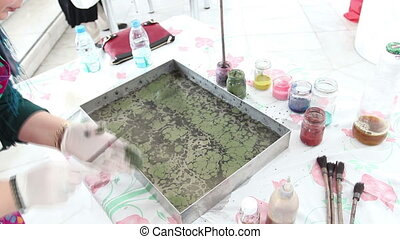 paper marbling - Ebru - The art of painting on the water