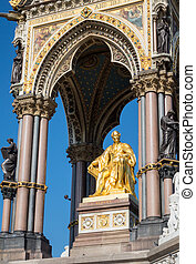 Albert Memorial in London - Detail of the Albert Memorial in...