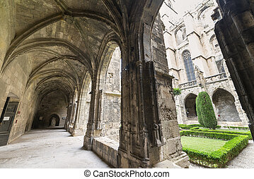 Narbonne (France), cathedral cloister - Narbonne (Aude,...