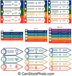 Infographics cyclic processes, 9 templates, Business...