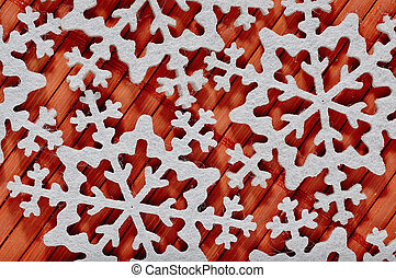 Christmas theme - decorative snowflakes - The shape of snow...