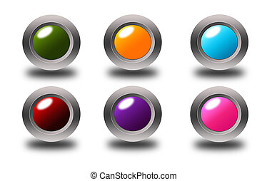 Colorful glossy buttons collections
