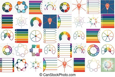 Vector 40 templates Infographics cyclic processes - 40...