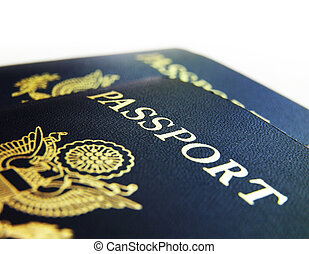 US passports closeup