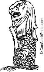 Illustrations et Cliparts de Merlion. 140 dessins et ...