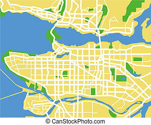 Vancouver - vector map of Vancouver