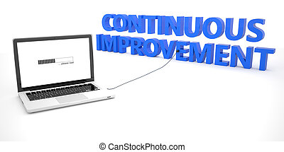 Continuous Improvement - laptop notebook computer connected...