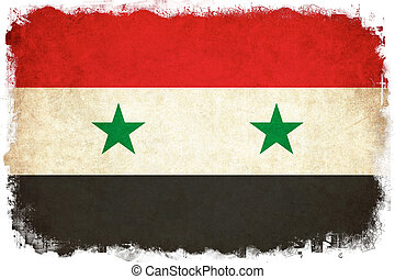Syria grunge flag illustration of country