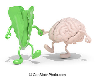 lettuce and brain that walking hand in hand - lettuce and...