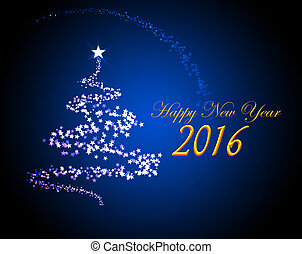 Silvester greeting card 2016 - Holiday greeting card for New...