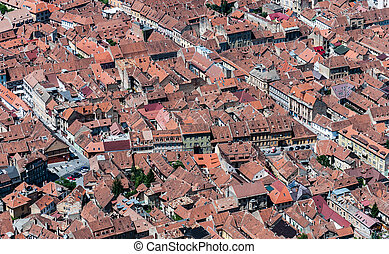 Brasov landmark - old city overview - Over-view of Brasovs...