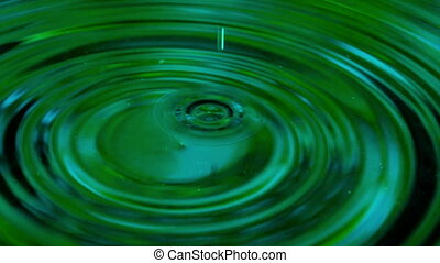 Falling Green Drops - Slow Motion at a rate of 240 fps....