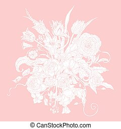 Vector Pastel Floral Frame.