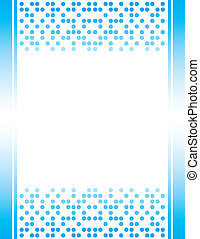 Blue Invitation Letterhead Border - flyer, page, print,...