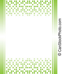 Green Invitation Letterhead Border - flyer, page, print,...