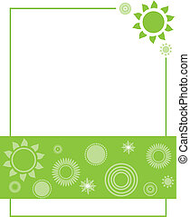 Green Flower Invitation - flyer, page, print, layout,...
